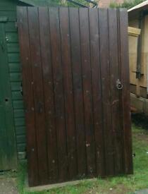 Wooden gates drive way garage doors