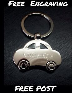 Personalised Car Shaped Metal Keyring | Engraved Free | New Car | Car Key Gift