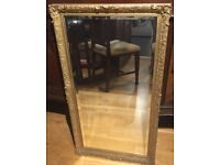 Beautiful very heavy vintage gold ornate Beveled mirror