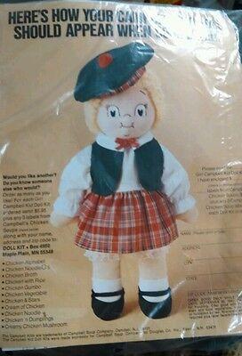 Campbell Soup Kid Girl Doll Kit St Patty Outfit Scottish Kilt Skirt Beret Tartan](St Pattys Outfits)