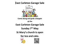 East Carleton Garage Sale Sunday 7th May. 11am to 4pm. 10+ Garages