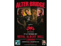 Alter Bridge @ Royal Albert Hall 2x Standing Tickets [ Mon 2nd Oct]