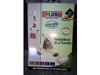 """Teddy Bear in a Tuxedo. Inflatable 32"""" Plush Toy, Brand New in Box"""