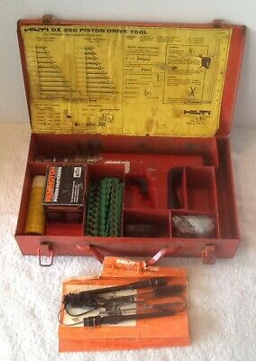 Hilti Dx-350 Powder Actuated Fastener Systems Nail Gun Kit With Case