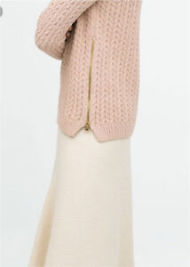 Brand new Zara cable KNIT with gold side zippers