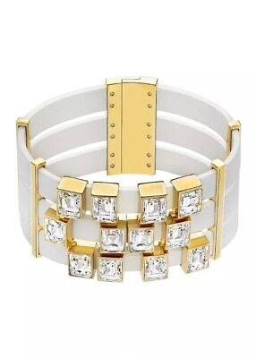 Bazel Set (Swarowski Unique Gold Plated Bazel Set Crystal Bracelet)