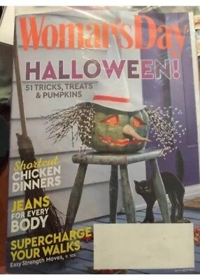 NEW October 2017 issue of Woman's Day Magazine  Halloween - Woman's Day Halloween 2017