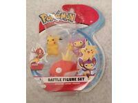 Magikarp Pokemon Battle 3 Figure Pack Aipom and Pikachu Brand New