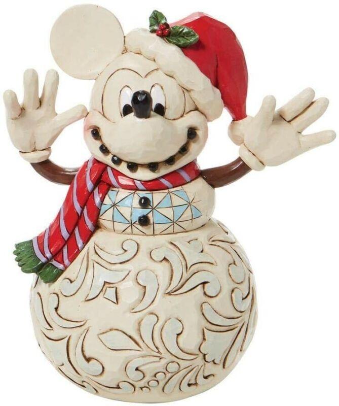 Snowy Smiles Mickey Snowman Jim Shore Disney Traditions 6008976 Christmas Z