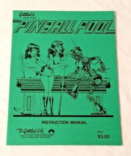 Gottlieb Pinball Pool Pinball Machine Original Manual & Schematics NOS Free Ship