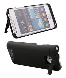 Black External Backup Battery Charger Case Cover For Samsung Galaxy S2 II i9100
