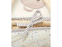 Mothercare Moses basket and Clair de lune rocking stand
