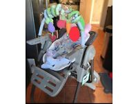 Chicco polly magic highchair in truffle