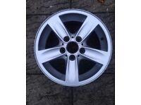 BMW 1 series 5 spoke alloy wheel 16 inch genuine