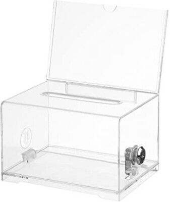 Acrylic Donation Ballot Box - Clear