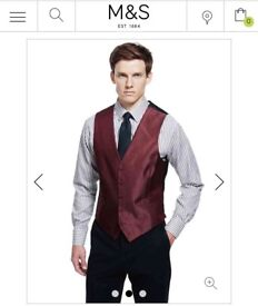 Marks and Spencer Red Men's Waistcoat (2 available)