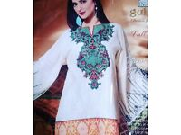 3 piece UNSTITCHED Pakistani suit for ONLY £20