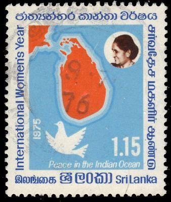 Sri Lanka 494  Sg610    International Womens Year  Map And Peace Dove   Pa93950