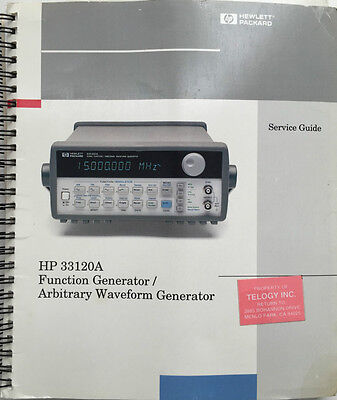 Hp 33120a Function Generatorwaveform Generator Service Guide Pn 33120-90013