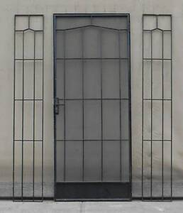 Steel Screen Door + Frame + 2 Side Light Screens Wingfield Port Adelaide Area Preview