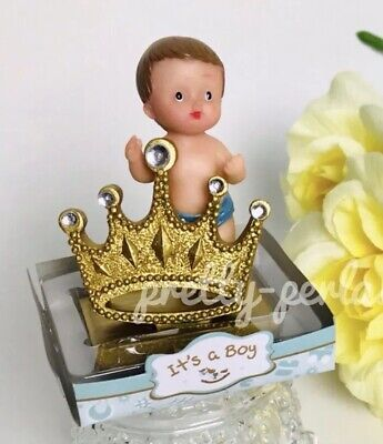 1PC Baby Shower King-prince Boy Cake Topper Decoration Figurines Party Favors