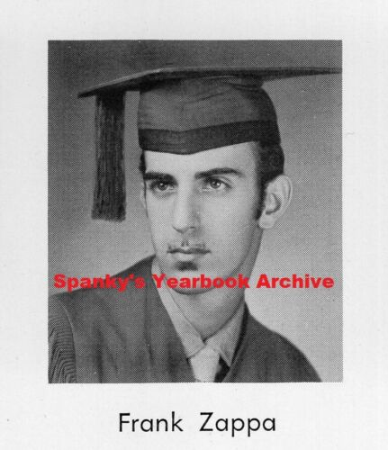 1950s High School Yearbook w/ senior FRANK ZAPPA ~ Freak Out! ~ Sheik Yerbouti +