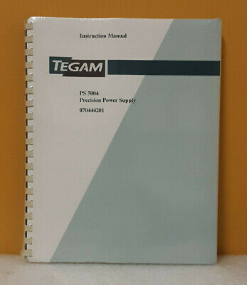 Tegam 070444201 Ps 5004 Precision Power Supply Instruction Manual