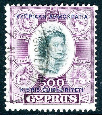 CYPRUS-1960-61  500m Slate & Purple Sg 201 FINE USED  V15017