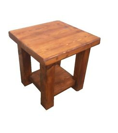 Chunky Pine Bedside Table - Side Table Bedside Cabinet - Handmade - Coffee table