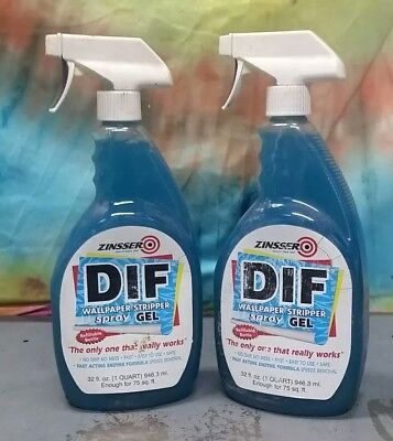 Zinsser 02466 DIF GEL Spray Ready To Use Wallpaper Stripper, 32-Ounce lot of 2