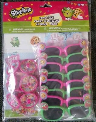 Shopkins Party Favor Pack for Gift Bags 8 bags 6 items 48 pieces Brand New - Items For Party Bags