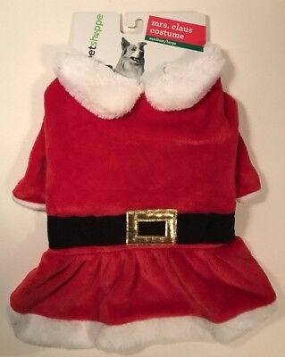 Mrs Claus Pet Costume Medium / Large Dog Christmas Outfit Dress Up Plush NWT - Mrs Claus Dress Up