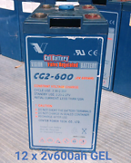 12 x 2v600Ah Gel solar batteries Maddington Gosnells Area Preview
