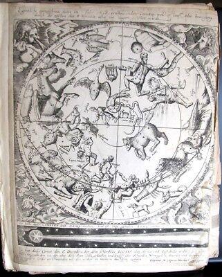CASPAR HERSBACH 1618 Original Engraving Astronomy Astrology Zodiac Celestial