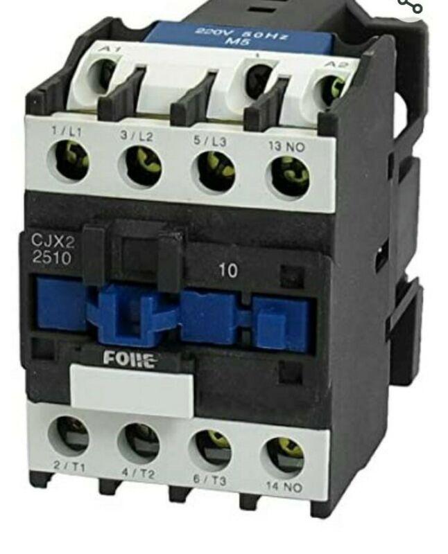 Baomain AC Contactor CJX2-2510 3 Pole NO N/O 660V 220V Coil Motor Controler
