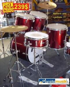 MÉGA SPÉCIAUX - Batteries - cymbales - stands - snare et beaucoup plus