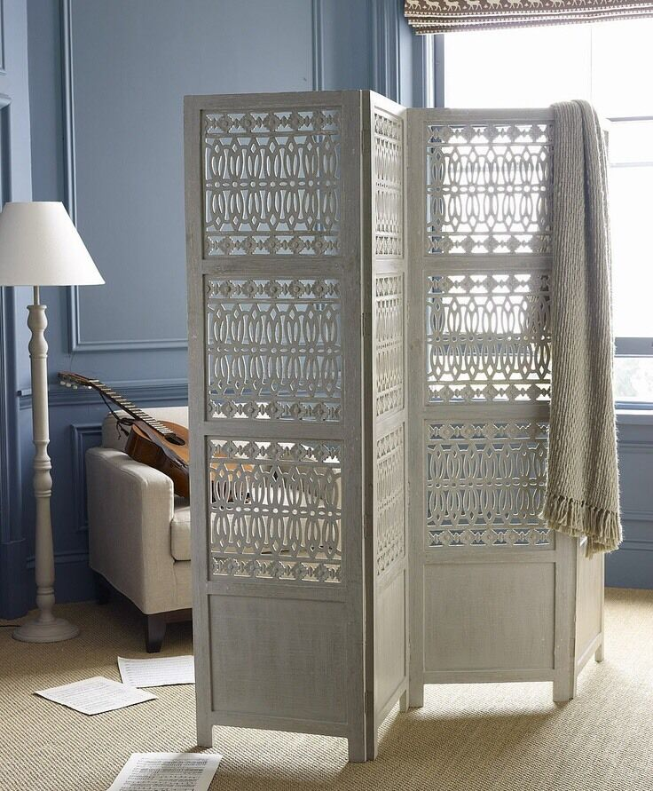 Lombok Room Divider Wooden Screen In Wood Green London
