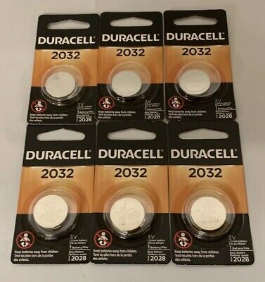Duracell 2032 Lithium Button Cell Battery 6 Pack 2032 Lithium Cell Button