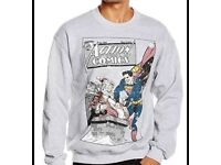 Grey DC Superman Christmas Jumper BNWT Size XL