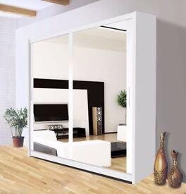 🔥💗🔥CHEAPEST PRICE EVER🔥💗🔥New Berlin 2 & 3 Door Full Mirror Sliding Wardrobe w Shelves & Rails