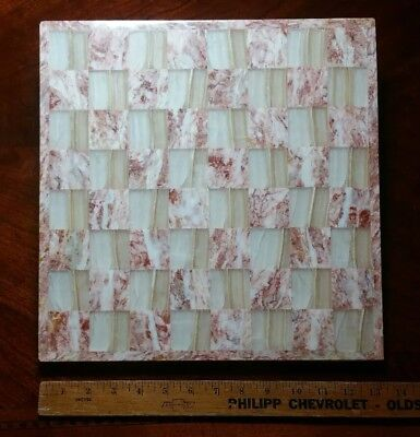 Vintage Marble Chess Board Pink/Opaque for sale  Denver