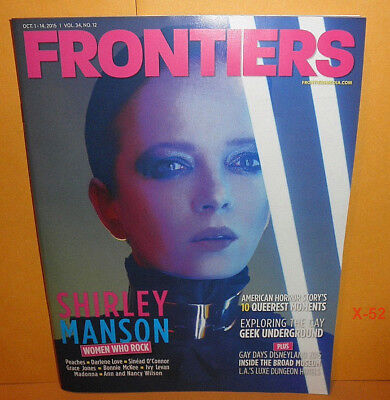 FRONTIERS magazine SHIRLEY MANSON of garbage COVER heart Grace Jones madonna