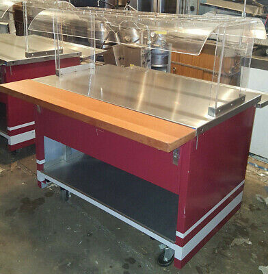 Seco Buffet Table Portable Serving Line Food Cart Portable Cafeteria W Guards