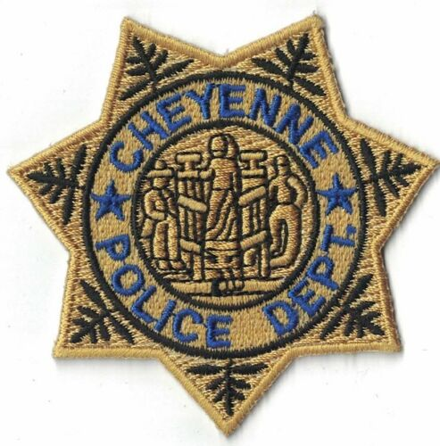 Cheyenne Police Dept. gold star Wyoming WY Police Patch