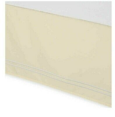 Wamsutta Baratta Stitch Twin Bedskirt Butter Soft Yellow - Yellow Bedskirt