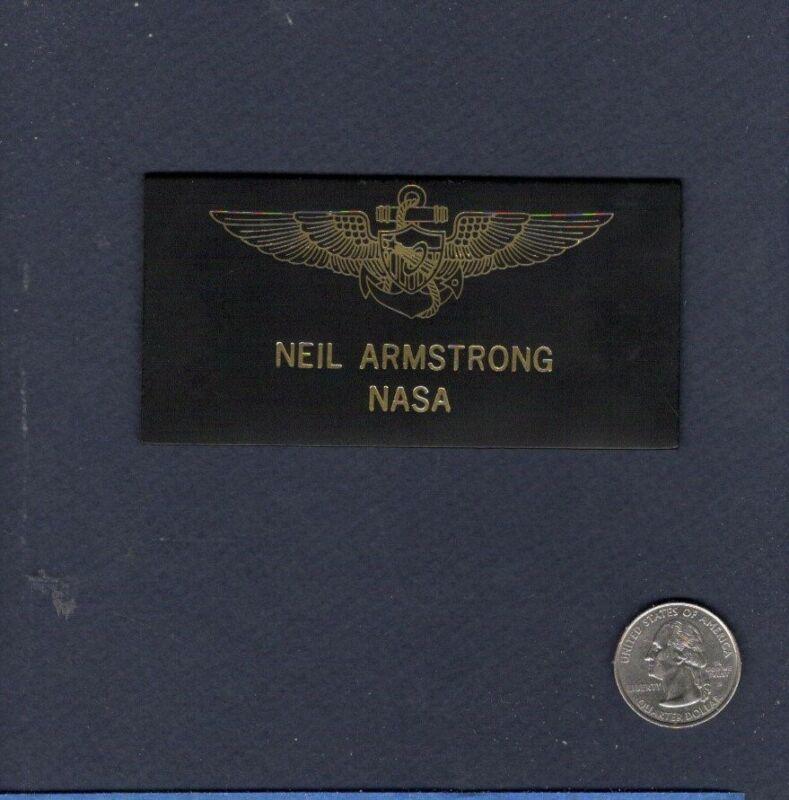 Astronaut NEIL ARMSTRONG X-15 GEMINI APOLLO 11 Moon Walk  NASA Name Tag Patch