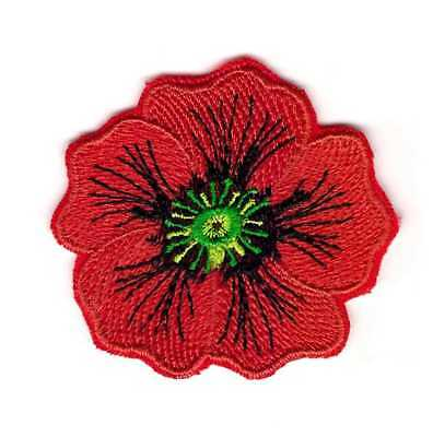 Patch Emblem Flower Red Poppy Memorial Remembrance Veteran's Day