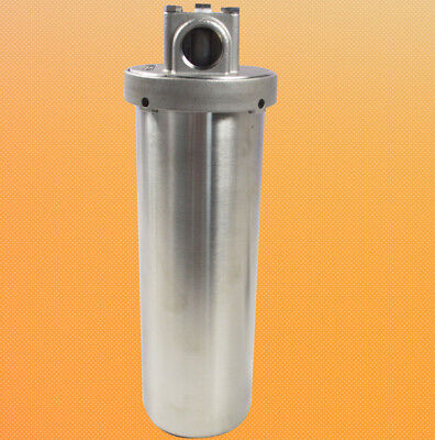 "304 Stainless Steel Heavy-duty Filter Housing for 10"" 3/4"" NPT Shell Dining Tool"