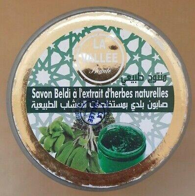 Premium Moroccan Olive & Natural Herb Extracts Soap Beldi Savon Noir Hammam 200g