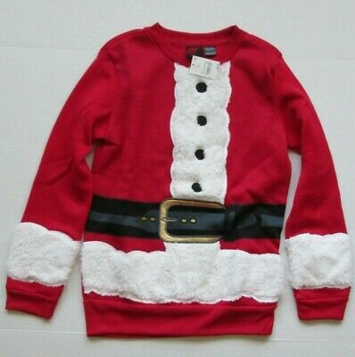 NWT Mad Engine Men's Red Santa Suit Christmas Holiday Ugly Sweater Size S or XXL ()